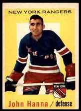 1959-60 TOPPS JOHN HANNA NEW YORK RANGERS #31
