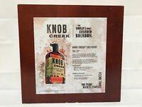 """Knob Creek Bourbon Wood Display Box 13"""" x 14"""" GUC Plexiglass"""