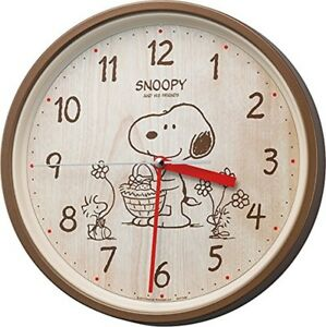 SNOOPY wall clock clock analogue M 06 rhythm clock 8 MGA 40 - M 06 From Japan
