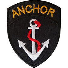 Ship Boat Anchor Iron Sew On Patch Sailor Fancy Dress Costume Embroidered Badge