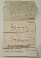 Antique Property Deed 1884 Hickman County Tennessee handwritten W.B. Russell