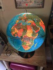 Vintage World Scan Globe Illuminated Denmark Cartography Karl F. Harig Used