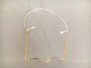 "ORIGINAL VINTAGE RARE AUNT LUCY 3"" GLASSES USED CONDITION"