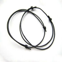 NEW Black Leather Cord Lucky Bracelet Anklet Adjustable For Men Women Surf NEW