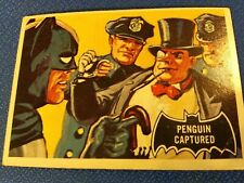 1966 batman black bat cards #24 Penguin Captured
