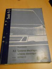 SAAB 9.3 système électrique schémas électriques 1999 édition 2