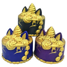 New Jumbo Squishys Slow Rising Incense Scented Gold Unicorn Cake Squeeze Toys