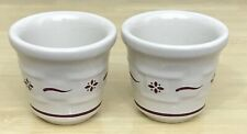 Longaberger Pottery Traditional Red Votive Candle Holders