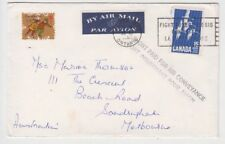 "Stamp Canada 15c ducks on 1964 airmail cover to Australia ""Short Paid for Air"""