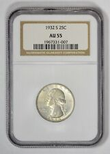 1932-S Washington Quarter, NGC AU55, Key Date!