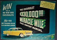 1955 Chevrolet Contest Catalog Brochure Bel Air 210 150 Wagon Nice Original 55