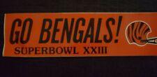 1988 Cincinnati Bengals Superbowl XXIII Bumper Sticker