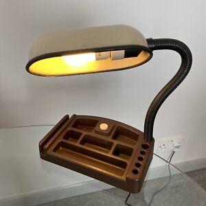 Vintage Desk Lamp Stationery Holder 1970s Office Light French Working Tested