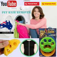 2 Pcs Pet Hair Remover Floating Fur Catcher Laundry Lint Dog CAT Washing Machine