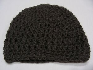 GRAY - NEWBORN INFANT - ONE SIZE STOCKING CAP BEANIE HAT!