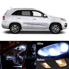11Pcs White LED Interior Lights Package Kit for 2011 - 2014 Sorento w/Sunroof MP
