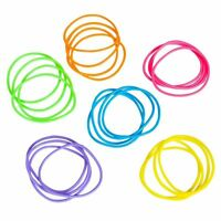 144 RAINBOW NEON JELLY BRACELETS,PARTY FAVOR, PINATAS, GOODY BAGS, CARNIVALS