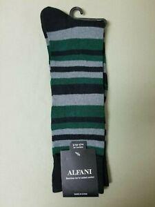 New Mens Alfani Seamless Toe Dress Socks.
