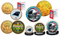 50th ANNIVERSARY SUPER BOWL Officially Licensed U.S 3-COIN Set CAROLINA PANTHERS