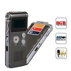 8GB Digital Audio Voice Recorder Rechargeable Dictaphone Telephone MP3 Players