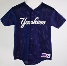 146d4a781b6 Vintage MLB NY Yankees Jeter  2 Youth Baseball Jersey Majestic Blue