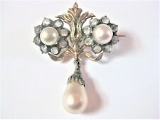 With Pearls, 0.2oz Antique Brooch Gold 585/Silver