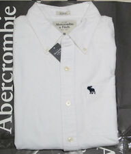 NWT AF Abercrombie & Fitch Men Ranney Trail Classic Oxford Plaid Shirt Hollister