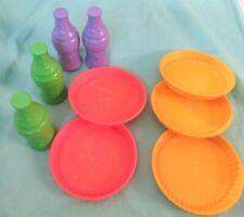 Playskool Plates / Bowls & Soda pvc plastic Picnic kitchen play food Lot