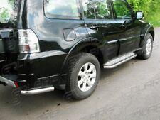 Mitsubishi Pajero 2007-2015 | MARCHE-PIEDS INOX PLAT / PROTECTIONS LATERALES