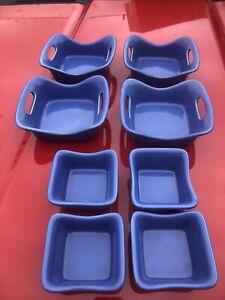 Rachael Ray Casserole Set Glass H016 4-10oz, 4-3oz excellent condition