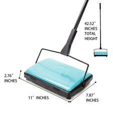 CLEANHOME MANUAL CARPET SWEEPER  BRUSH CORDLESS RUG CLEANER-BLUE DUSTER BROOM