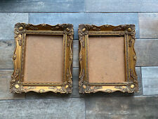 """Beautiful Pair Gold Gilt Photo Picture Swept Frame Rococo Baroque 10"""" X 8"""""""