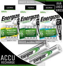 ENERGIZER AAA RECHARGEABLE BATTERIES 500mAh 700mAh 800mAh PRE CHARGED Ni-MH