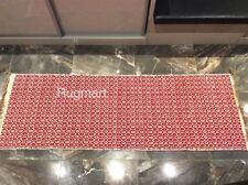 Red Geometric Handmade Recycled Cotton Jute In & Outdoor Kilim Area Rugs Runner