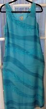 SIGRID OLSON Dress Sz 10 Long Watercolor Sleeveless Straight  Lined Vintage Chic