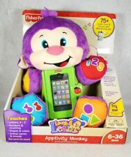 New Fisher-Price Laugh & Learn Apptivity Monkey For iPhone & iPad Touch 6-36 Mos