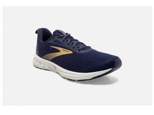 NIB MEN'S BROOKS 110334 415 ANTHEM 3 RUNNING CUSHION NAVY/GOLD SHOE SNEAKERS