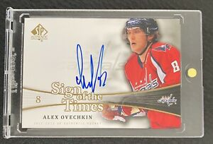 Alexander Ovechkin 2011-12 UD SP Authentic Sign of the Times Auto