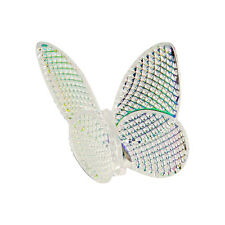 Baccarat Cystal Butterfly Diamond Pattern Iridescent
