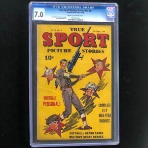True Sport Picture Stories Vol. 2 #9 (1944) CGC 7.0 Street & Smith Sports Comic
