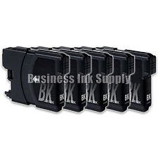 5 BLACK New LC61 Ink Cartridge for Brother MFC-495CW MFC-J410W MFC-295CN LC61BK