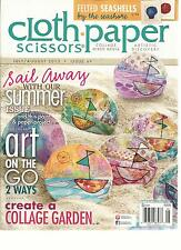 CLOTH PAPER SCISSORS , JULY / AUGUST, 2013   ISSUE 49  (  ART ON THE GO 2 WAYS )