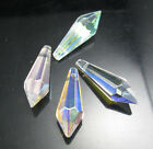 Lot 24Pcs 40mm Faceted Teardrop Glass Crystal Hanging Drop Findings Pendant Bead