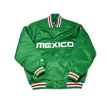 Majestic Men Size Jacket Mexico Flag Green Satin Green Red White