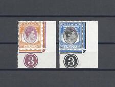 MALAYA MALACCA 1949-52 SG 12 & 14 MNH Cat £20