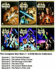STAR WARS COMPLETE COLLECTION (DVD x 12, PARTS 1 - 6)