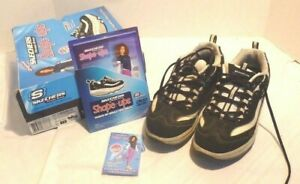 Skechers Shape Ups Fitness Shoes #11809  Black Pre-owned w/ Box Women 7.5