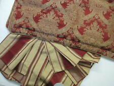 Croscill KING Size Dust Ruffle + 2 Pillow Shams Burgundy Maroon Gold Bed Skirt