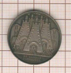 Raro Gettone Argento Cie Degli Miniere Della Ferro San Etienne 1828 Da Galles
