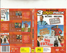 Kicking and Screaming-2005-Will Ferrell/Dudley Do.Right/Big Fat Liar-3 Movie-DVD